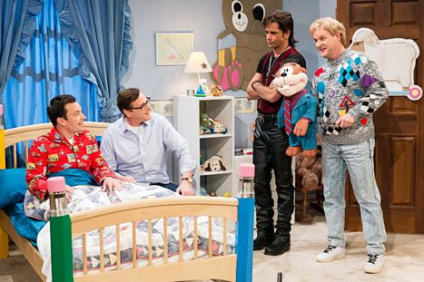 Watch Full House stars Bob Saget, Dave Coulier and John Stamos (aka Danny Tanner, Uncle Joey and Uncle Jesse) sing Jimmy Fallon to sleep on ...