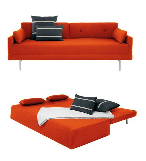 We're searching for ideas to make our 2nd bedroom a welcoming, comfy guest room in addition to my creation zone. Was thinking about a murphy bed but I think this might be more fun/tional!  modern sleeper sofa | Modern Sleeper Sofa: One Night Stand