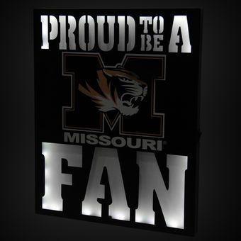 """Missouri Tigers 12"""" x 15"""" LED Metal Wall Decor"""