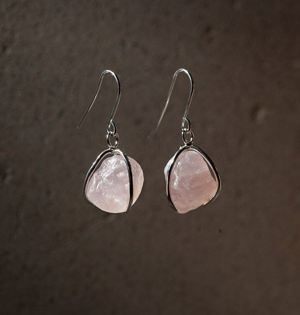 Karu One – Rose Quartz Earrings