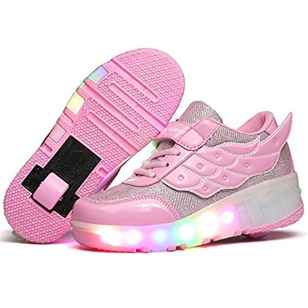 YCOMI Girl's Boy's LED Roller Shoes