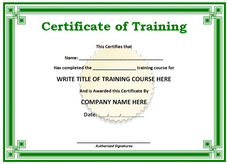 19 best Free All Printables images on Pinterest Free stencils - certificate of completion of training template