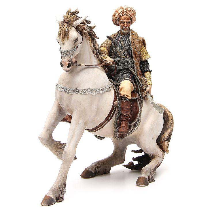 Caballo con rey Belén Angela Tripi 30 cm | venta online en HOLYART