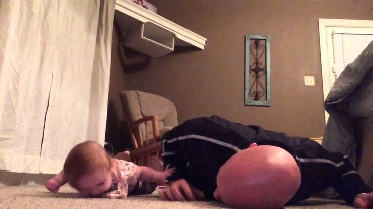 The Lilly Ann workout!  Precious father-daughter moment as 6 month old Lilly Ann is definitely getting a workout!