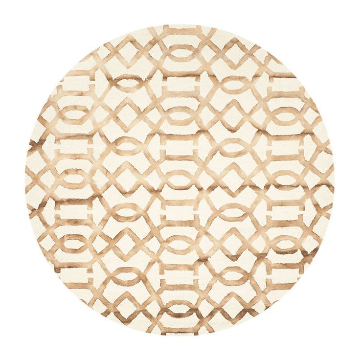 Safavieh Dip Dye Collection Diamond Geometric Round Area Rug Hand Tufted Rugs Round Area Rugs Colorful Rugs