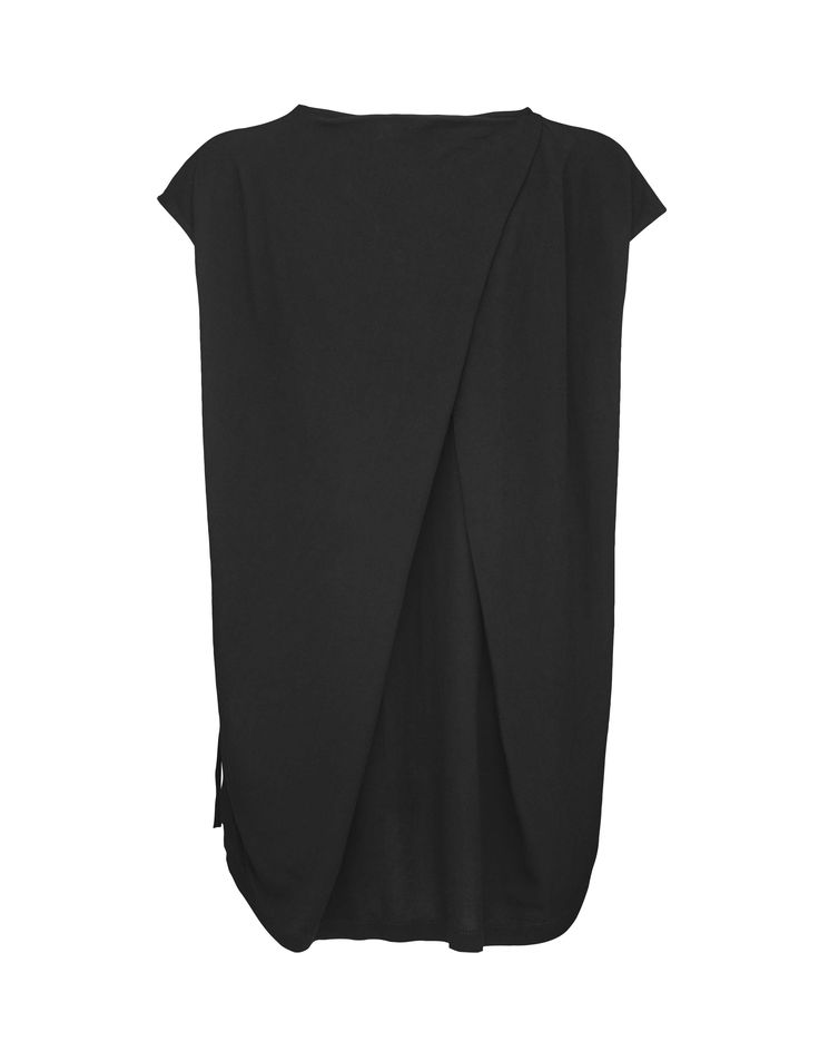 Creep top - Women's top in lightweight, structured viscose. Features pleated detail at back to create draped effect. Binding at neckline. Relaxed fit. Shaped hem. Below-hip length.