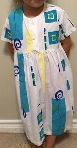 Girl's Play Alegre Cotton Hand Painted Boho Beach Long Dress Boutique Size 5 | eBay