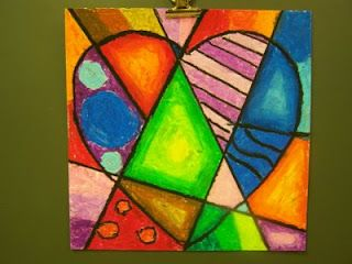 oil pastels...Jim Dine, with a twist of cubism and picasso