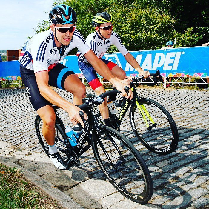 Ian Stannard back on the cobbles training with Great Britain for Worlds Richmond2015