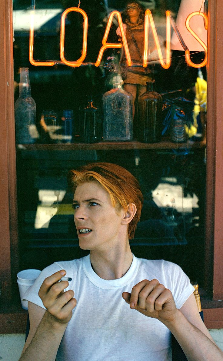 "berlin-1976: "" On the set of The Man Who Fell to Earth, New Mexico, 1975 © Geoff MacCormack 
