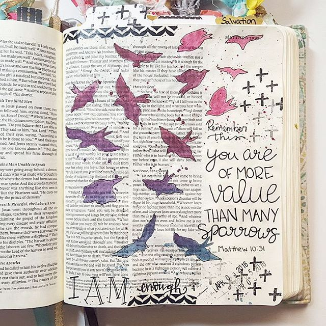 I decided to journal Matthew 10:31 for day 6 of the Beautiful Devotional from @illustratedfaith. I...