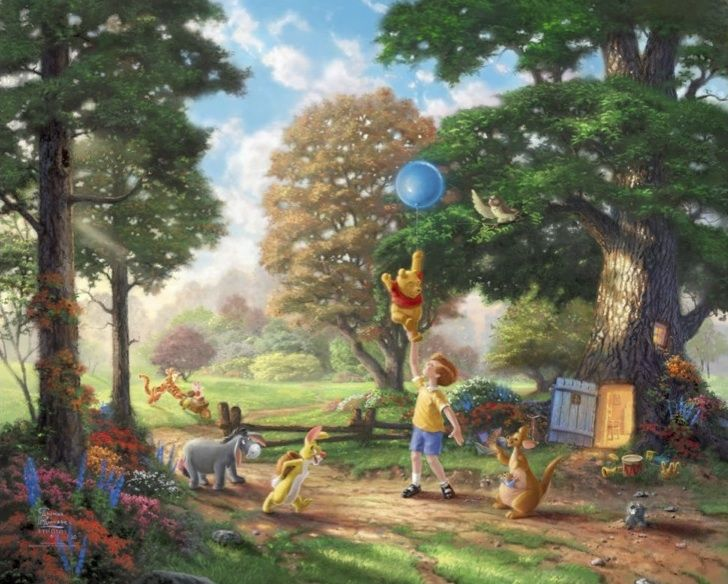 I know it's not a photo, but I still love it!Thomas Kinkade Disney art | Thomas Kinkade – Disney Art and Movies