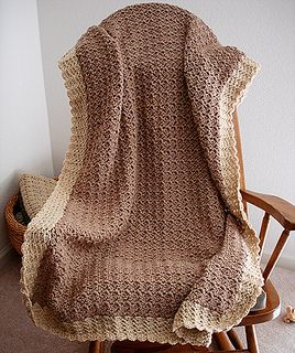 Baby blanket-another pinner said: I'm making this one right now. Ridiculously easy for a tremendous payoff. It comes out so very beautiful, heirloom quality.
