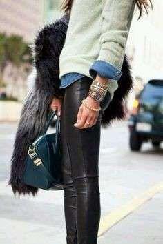 Cómo combinar leggins cuero: fotos mejores imágenes (Foto 34/41) | Ella Hoy