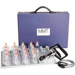 MMT Professional 17 Piece Cupping Set with Pump Gun - MMT Professional 17 Piece Cupping Set with Pump Gun. Cupping Therapy is used to decompress and release adhesions, scar tissue, relax muscles in spasm, decrease trigger point pain, lymphatic drainage, d