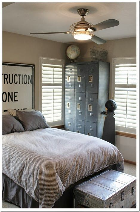 Boys Industrial Room Decor My Home Pinterest