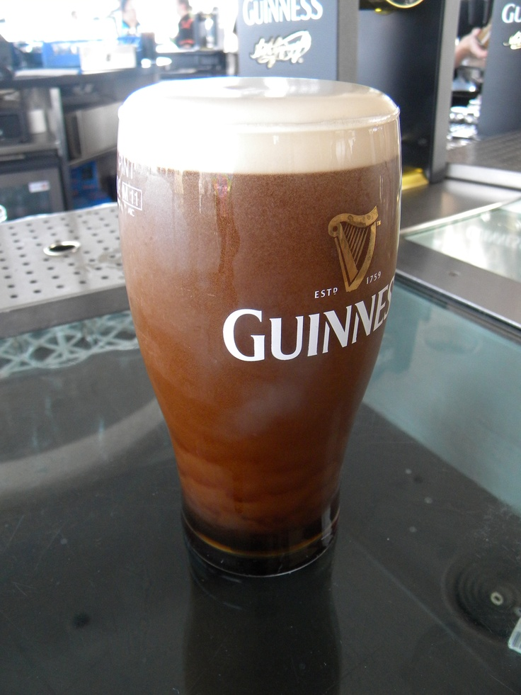A perfectly poured pint of guinness at the guinness for Guinness beer in ireland
