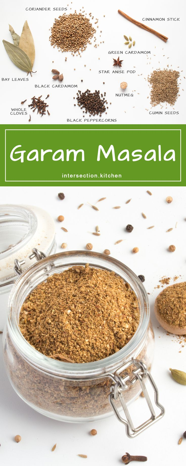 Garam Masala Spice Blend. A versatile and aromatic blend of spices that can be used to flavour Indian and non-Indian dishes.  #garam-masala #spices #recipe