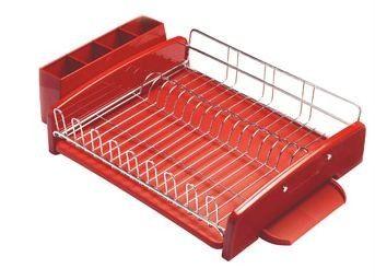 New Kitchenaid 3 Piece Dish Drying Rack Red Kat896er