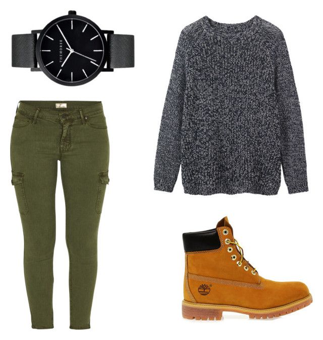 """""""Cloudy day outfit"""" by heather-sophie-marie-lee on Polyvore featuring Timberland, Mother, Toast and The Horse"""