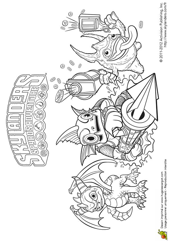 Skylanders giants coloring pages drobot wow pow ~ 84 best Coloriages héros de jeux vidéos images on Pinterest