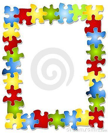 Free Puzzle Piece Clip Art | Colorful Puzzle Pieces Frame Royalty ...