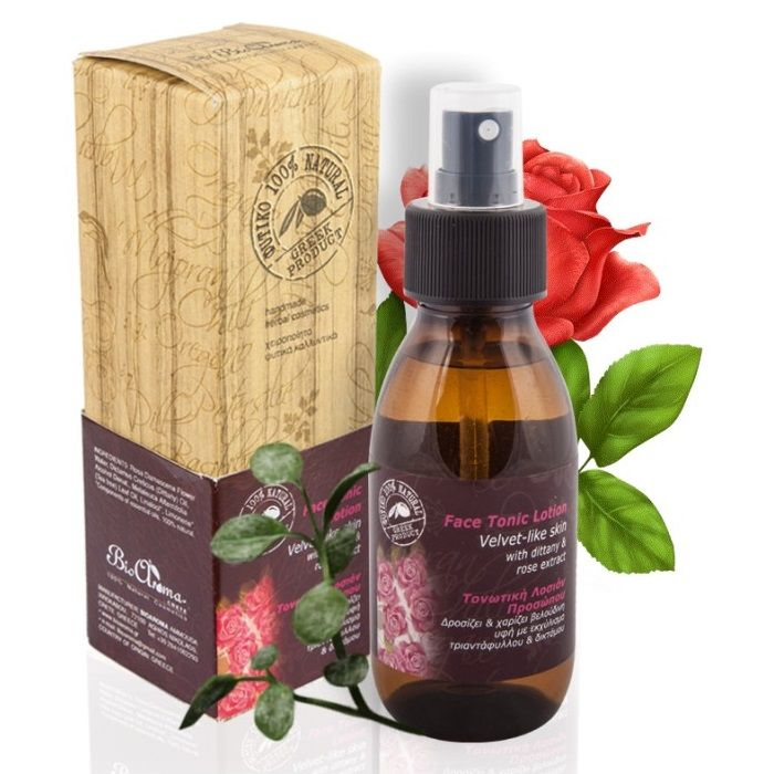 Natural Face Tonic Lotion Dittany Rose Bioaroma