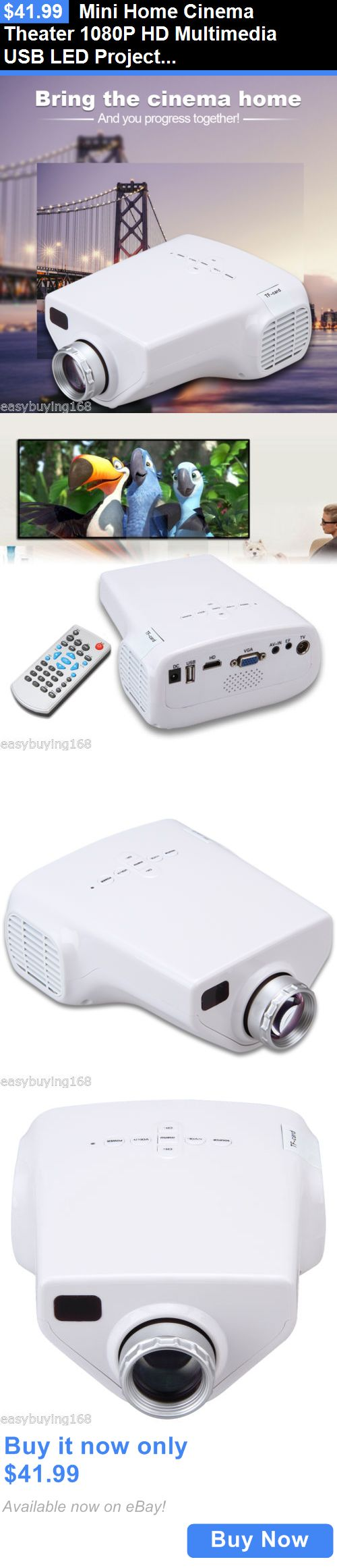 Home Theater Projectors: Mini Home Cinema Theater 1080P Hd Multimedia Usb Led Projector Pc Av Atv Hdmi Us BUY IT NOW ONLY: $41.99