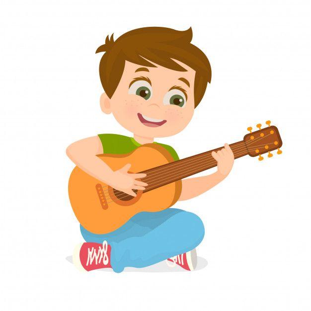 Nino Tocando La Guitarra Vector Premium Premium Vector Freepik Vector Musica Estudiante Sonri Ilustracion Musical Tocar La Guitarra Dibujos De Guitarras