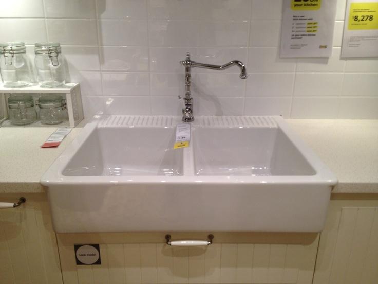 High Quality Ikea Double Sink Domsjo 82cm By 64cm $429