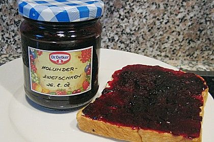 Holunder - Zwetschgen Marmelade 8