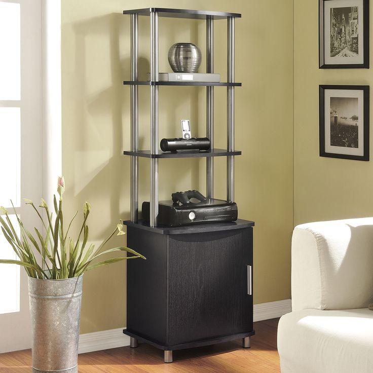 Altra Carson Audio Stand, Cherry/Black