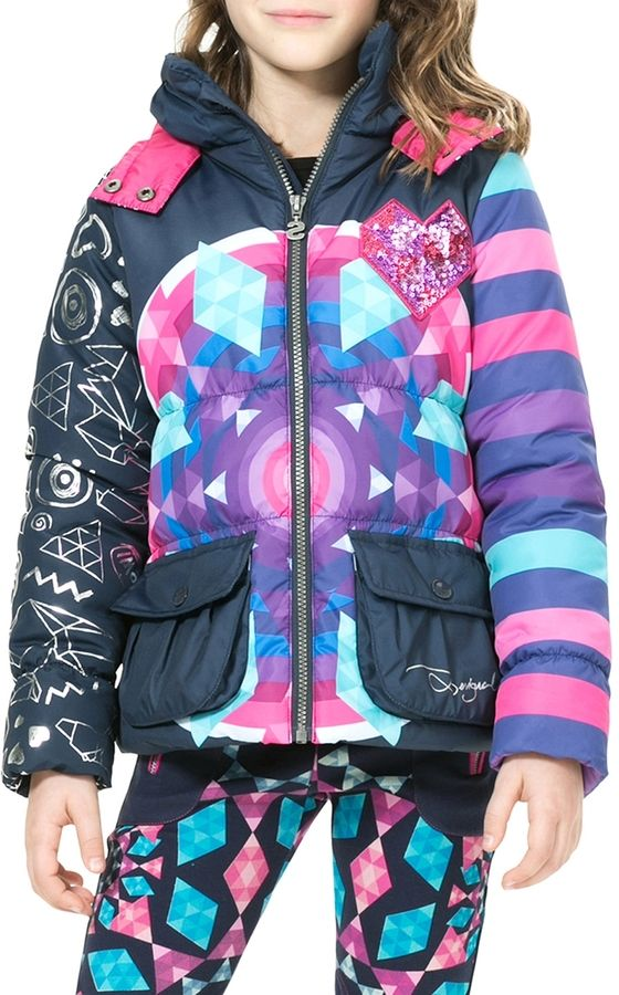 Desigual Heart Sequined Coat