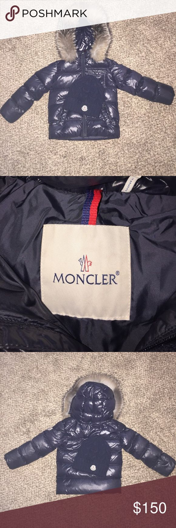 Little Boys Winter Jacket MONCLER Little Boys Jacket. Excellent Condition. Comes with matching black MONCLER hat. Moncler Jackets & Coats Puffers