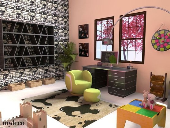 17 best images about office playroom combo on pinterest home office design offices and pictures - Playroom office ideas ...