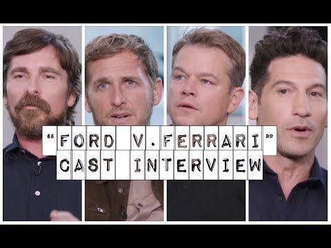 Ford V Ferrari Cast Interview Christian Bale Josh Lucas Matt