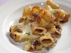 La buona cucina di Katty: Pasta al gratin con funghi porcini e mozzarella