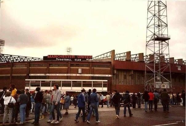 Old Trafford forecourt 1984.