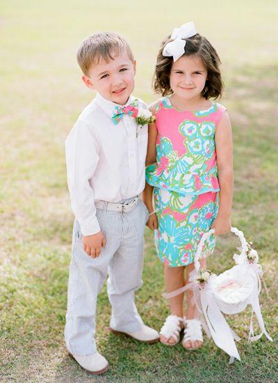 adorable preppy wedding kids | Faith Teasley