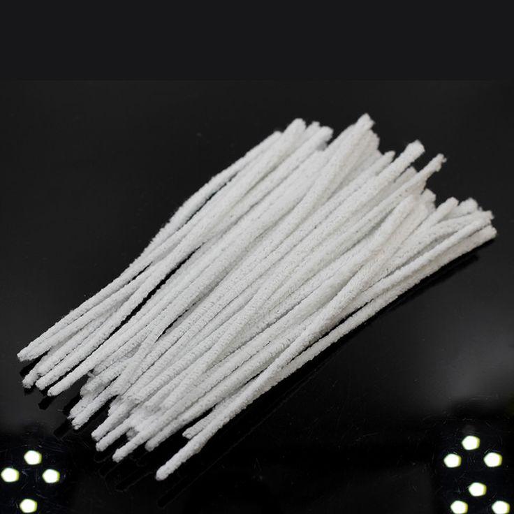 50 pcs blanc coton tabac fumer Chenille artisanat découle des cure - pipes tabac…