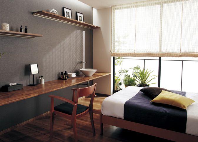 寝室01   インテリアカウンタープラン   耐水インテリアカウンター   内装・収納(インテリア)