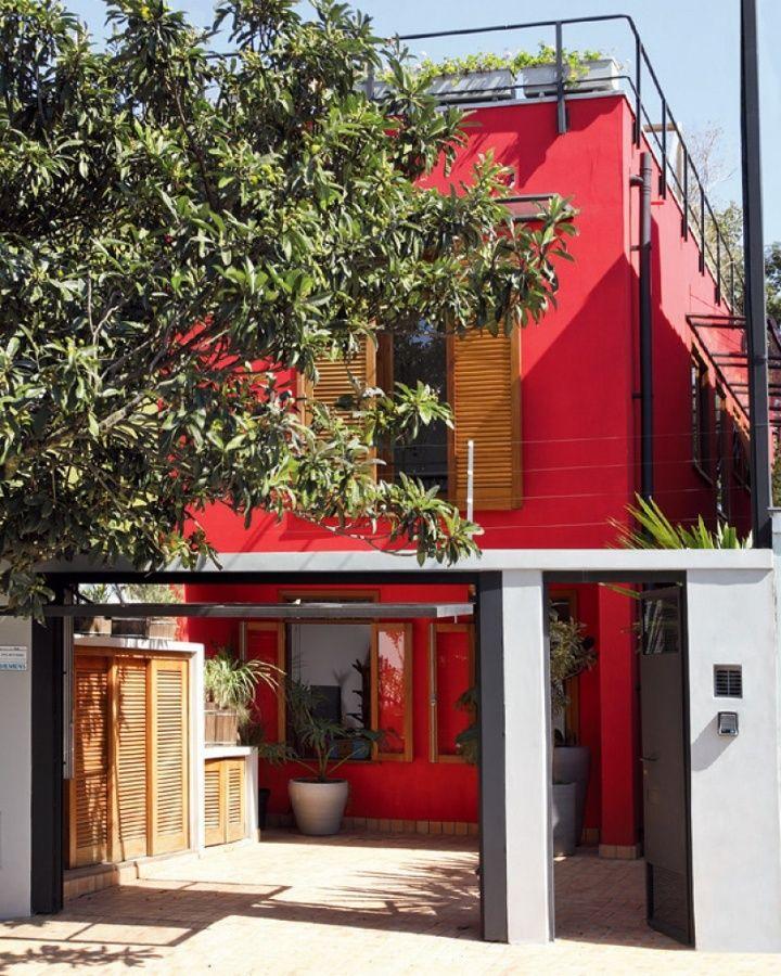 Casa vermelha   Dicas e cores para pintar a fachada