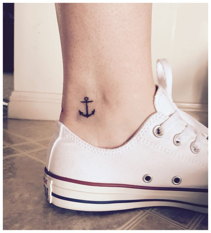Anchor tattoo. Inner ankle. Done!