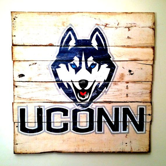 Hey, I found this really awesome Etsy listing at https://www.etsy.com/listing/186679567/uconn-huskies-wall-hanging