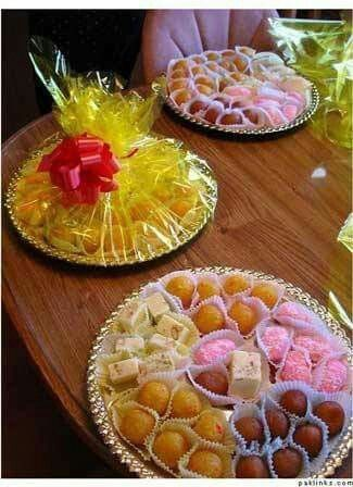 Engagement Ideas Basket Indian Bridal Wedding Cakes Trends Reception Sweets Dishes