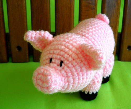 crocheted pig