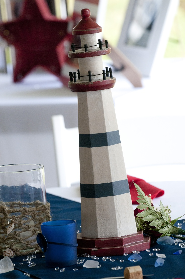 Lighthouse Centerpieces My Nautical Themed Wedding