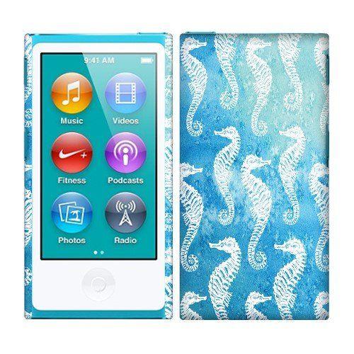 Fincibo (TM) Apple iPod Nano 7 (7th Generation) Back Cover Hard Plastic Protector Case - Seahorse