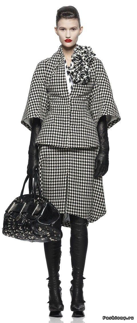 Модный тренд - черно белый принт / черно-белые платья фото