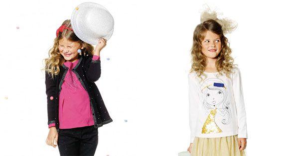 Bambine alla moda con un total look low cost da 10 euro. Ecco le proposte di Kiabi